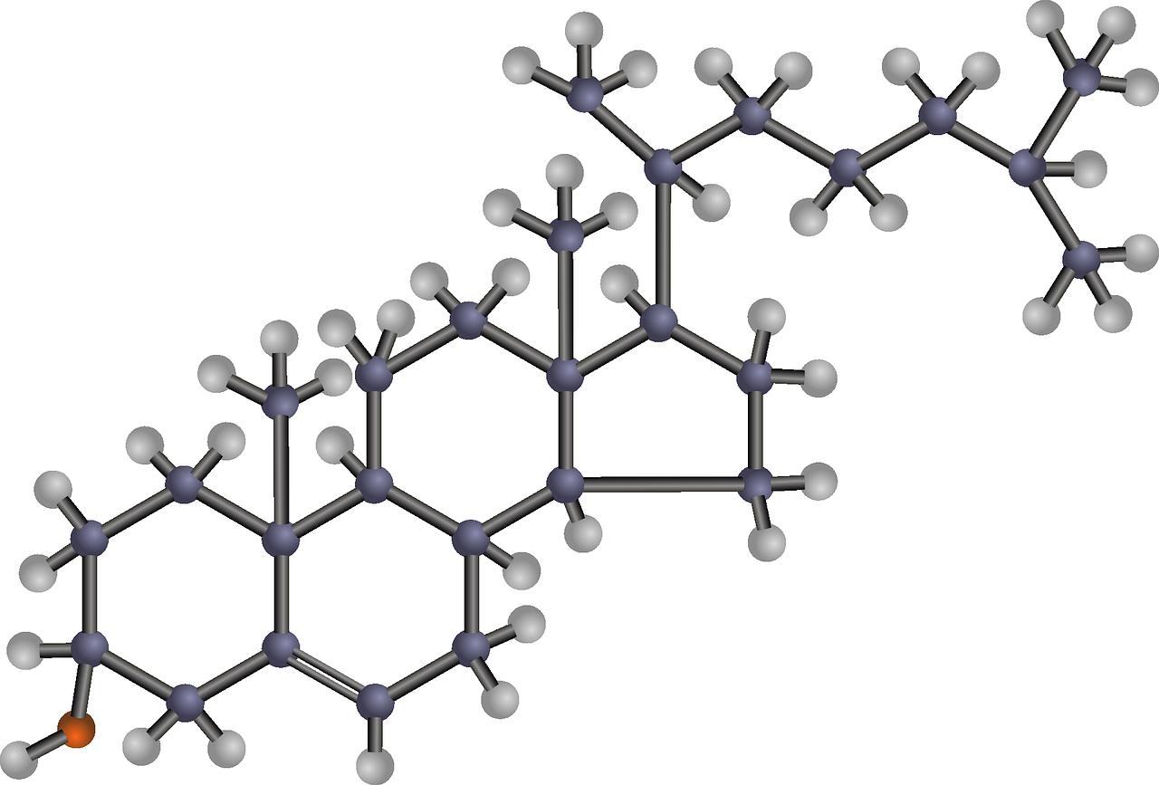 La struttura chimica del colesterolo